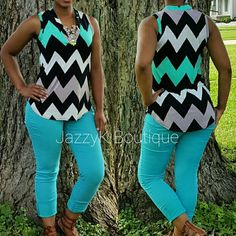 CHEVRON PRINT SLEEVELESS TOP    92% POLYESTER 8%SPANDEX    MADE IN USA | Shop this product here: http://spreesy.com/JazzyK/311 | Shop all of our products at http://spreesy.com/JazzyK    | Pinterest selling powered by Spreesy.com