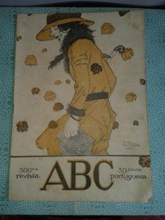 RARE ABC Magazine Portugal 20's Jorge Barradas Cover Deco 1920
