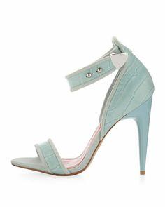 Charles Jourdan Blue Sandals - $64