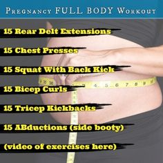 The Ultimate Pregnancy Full Body Workout you can do at home. Safe for you to have a safe and fit pregnancy.