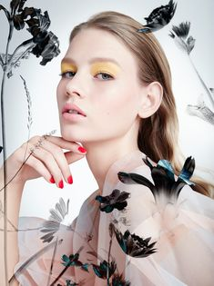 fleur de peau: sofia mechetner by camilla akrans for dior spring / summer 2016 Dior Beauty, Beauty Makeup, Fashion Beauty, Makeup Trends, Makeup Ideas, Camilla, Beauty Editorial, Editorial Fashion, Lund