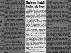 The News-Herald, Franklin Pennsylvania 24 Jan 1955 #mysteriousfire