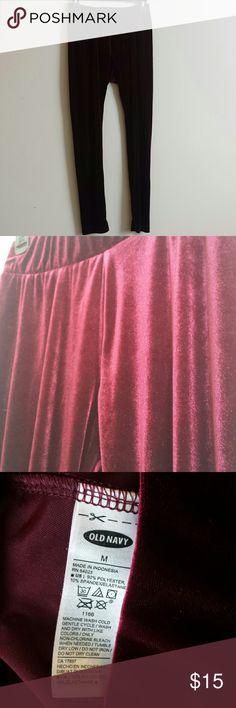 Red velvet leggings So soft! Urban Outfitters Pants Leggings