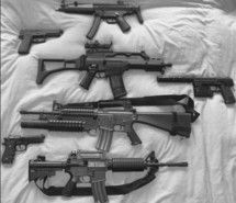 black and white, gun, guns - image #253662 on Favim.com