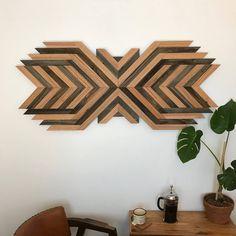 Wood Wall Art - Reclaimed Wood - Rustic Decor - Abstract Art - Reclaimed Wood Wall Art - Home Decor - Dimensional Wall Art Reclaimed Wood Wall Art, Wooden Wall Art, Diy Wall Art, Diy Wood, Diy Pallet Projects, Wood Projects, Woodworking Projects, Creative Walls, Wood Creations