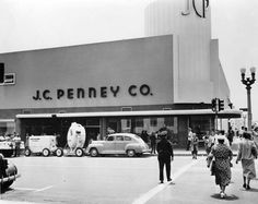 Currently Banana Republic on Third Street Promenade in Santa Monica, CA, this building opened as JCPenney in the 1940's. | Pleasant Family Shopping: The Modern Side of J.C. Penney