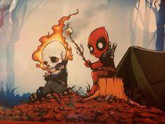 """Deadpool & Ghostwriter go Camping"" https://www.pinterest.com/search/pins/?q=deadpool&term_meta%5B%5D=deadpool%7Ctyped"