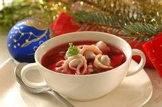 Barszcz Czerwony z Uszkami (Red Borscht with Ear Dumplings)