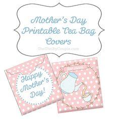 DIY Mothers Day Gift Ideas Printable Tea Bag Greeting Card Envelopes Diy Gifts