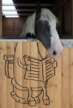 Superimposed Cartoon Horse