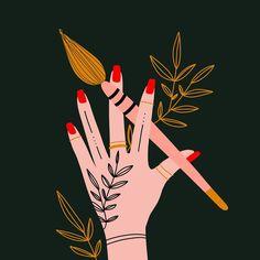 "Tanja von Die Handletterei on Instagram: ""#powerofcreativity #createsomethingeveryday ♥️✍🏻 . . . #digitalillustrationart #illustration_daily #womenofillustration #letteringdaily…"""