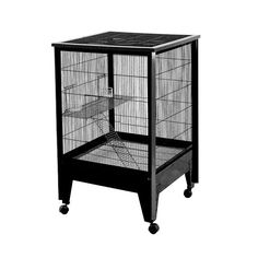Shop for Medium 2 Level Small Animal Cage on Casters. Get free delivery On EVERYTHING* Overstock - Your Online Small Animal Supplies Store! Ferret Cage, Rat Cage, Small Animal Cage, Small Animals, Large Rabbits, Bunny Cages, Rabbit Hutches, Animal Habitats
