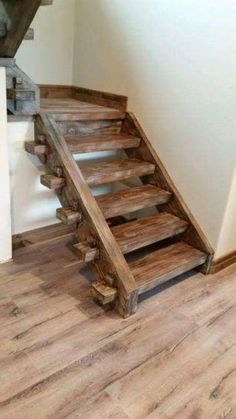 Timber Frame Staircase with through tenons held with wedges Spiral Staircase frame held LogCabin staircase tenons timber wedges Timber Staircase, Rustic Stairs, Wooden Stairs, Staircase Design, Spiral Staircases, Painted Stairs, Casa Octagonal, Timber Window Frames, Barn Conversion Kitchen