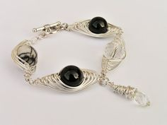 SHINE. CRYSTAL MOON Magic bracelet with by SHINEmagicJewellery Wire Wrapping, Wire Wrapped Bracelet, Moon Magic, Natural Gemstones, Give It To Me, Wraps, Plating, Touch, Crystals