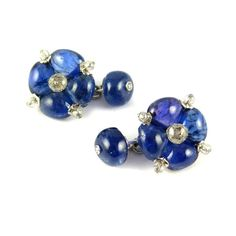 ... diamond bead quatrefoil cluster cufflinks by Viren Bhagat, Mumbai