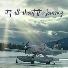 First flight  delayed. Just waiting for my non-float plane to arrive  It's all about #thejourney