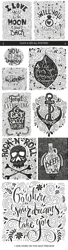 11 Hand Lettering Quotes - Illustrations - 2