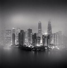 Skyline, Shanghai, China  2011 by Michael Kenna