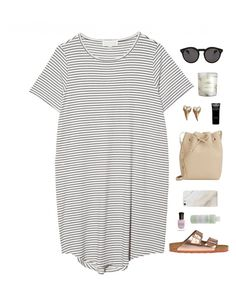"""striped"" by insomnniaa ❤ liked on Polyvore featuring The Lady & The Sailor, Mansur Gavriel, Givenchy, Birkenstock, Illesteva, H&M, Samsung, Deborah Lippmann and Mario Badescu Skin Care"