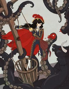 """Nautical Matador"" by Noelle Stevenson   (Thanks for showing us Noelle's work, Kate Beaton! :))"