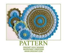 Crochet Doily SEASIDE