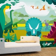 Savanna Jungle Kids Wall Murals - Kids Room Wallpaper, Baby Nursery Wall Decor, Large Custom Mural for Childrens Bedroom
