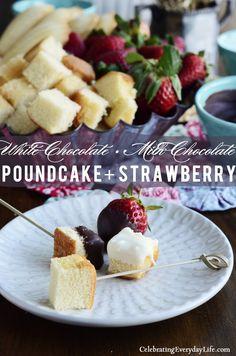 Chocolate Fondue :: Celebrate National Pound Cake Day