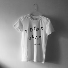 "White t-shirt with black font.  T-shirts are made from 100% cotton.  Size Chest (to fit): S - 34/36"" // M - 38/40"" // L - 42/44"" // XL - 46/48"""