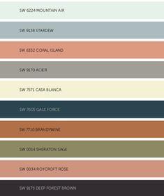 2017 color trends for the home Room Colors, Wall Colors, House Colors, Paint Color Schemes, Colour Pallete, Color Palettes, Tinta Sherwin Williams, Color 2017, Popular Paint Colors