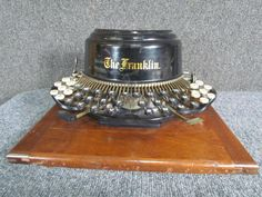 This is an antique late 1800s FRANKLIN typewriter made in Boston,Massachusetts. There is a patent date of dec. 8th, '91. It is missing one of the shift key pads, pictured. I tried to see f it works but i could not get it to move as i type, so it does need some type of adjustment. | eBay!