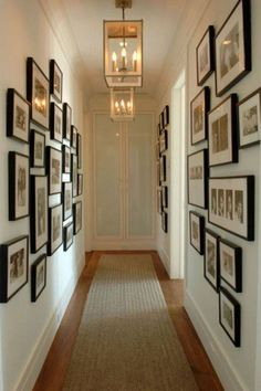 cute hallway lighting(not these) and picture(but not that low and cluttered)