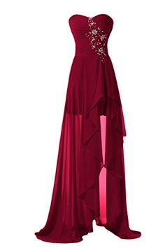 diyouth long high low bridesmaid dresses sweetheart formal