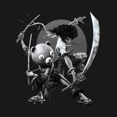 Check out this awesome 'Black+%27+N+White+Samurai' design on @TeePublic! Afro Samurai, Samurai Tattoo, African Warrior Tattoos, Character Concept, Character Design, Naruto And Sasuke Wallpaper, Afro Men, Online Comic Books, Samurai Artwork