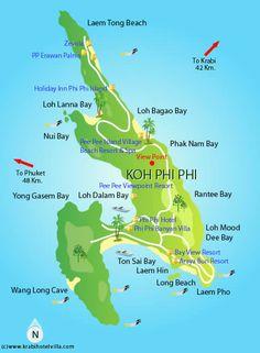 Ko Phi Phi Mapa