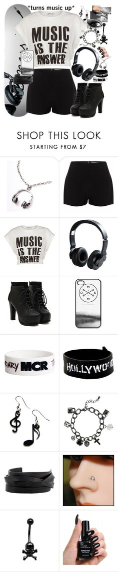 """""""Turn the music up Skater"""" by neverland-is-just-a-dream-away ❤ liked on Polyvore featuring Alexander McQueen, Glamorous, Nixon, CO, Tatty Devine, Wet Seal, Gucci, H.I.P. and Mikey"""