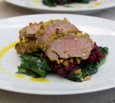 Pistachio-Crusted Lamb Loin Fillets with Beetroot Confit - Quick and ...