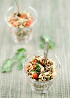French Lentil + Brown Basmati Salad | Umami Girl. Vegan and Gluten-free.