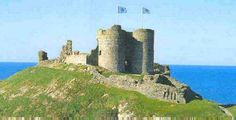 Criccieth Castle is a native Welsh castle situated on the headland between two beaches in Criccieth, Gwynedd, in North Wales, on a rocky peninsula overlooking Tremadog Bay. Wikipedia