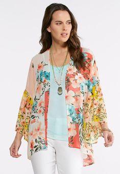 3c1653d7e9c Melon Floral  Kimono Cato Fashions  catoconfident Floral Kimono
