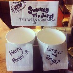 21 Incredibly Effective TipJars - Buzzfeed (I love the survey idea!!)