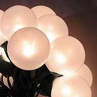 string light set- white satin. (2) $25.95 each, prior to shipping/handling