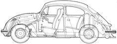 Resultado de imagem para vw beetle 1960s blueprint