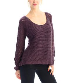 Another great find on #zulily! Wine Scoop Neck Pullover by VICE VERSA #zulilyfinds