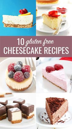10 Perfect Gluten Free Cheesecake Recipes. For everything from classic to no bake, miniature bites to vegan. All the best recipes! http://glutenfreeonashoestring.com/gluten-free-cheesecake-recipes/