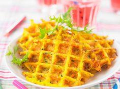 Découvrez la recette Gaufre aux légumes sur cuisineactuelle.fr.