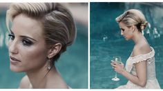/ Updo Inspired by Diana Agron This easy to wear and elegant hairstyle is amazing for everything from a wedding to a costume! BY an amazing Kayley Melissa Blond Ombre, Ombre Hair Color, Blonde Color, Elegant Hairstyles, Braided Hairstyles, Wedding Hairstyles, Kayley Melissa, Hair Dye Tips, 60s Hair