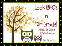 This 2nd grade Back-To-School includes 1st grade ELA and MATH skills REVIEW, and a fun writing topic for the first ten days of school. $