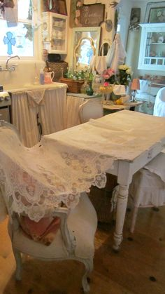 Vintage lace panel victorian shabby chic by whitecottageinhills, $55.00