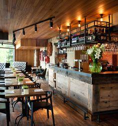 Gastropubs by Oakman Inns & Restaurants by People In Space UK Retail Design Pub Design, Coffee Shop Design, Retail Design, Bar Interior, Restaurant Interior Design, Deco Restaurant, Rustic Restaurant, Bar Furniture, Design Furniture