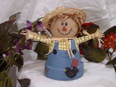 How to make a flower pot scarecrow - with Smoothfoam